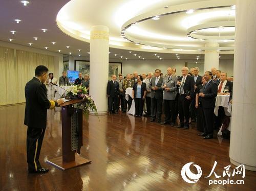 中国驻德国大使馆举行建军91周年招待会