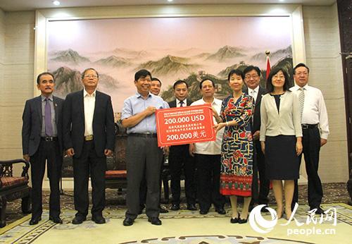越南向中国扶贫项目捐款