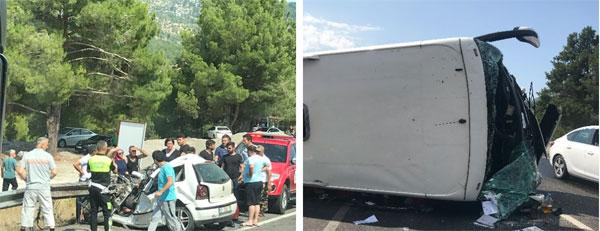 载中国游客大巴在土耳其发生车祸