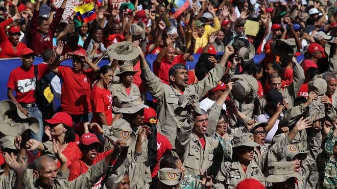 委内瑞拉誓言根除刺杀总统阴谋 民众游行声援