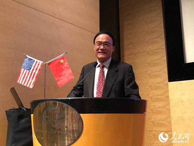 中国驻旧金山总领事王东华为开幕仪式致辞