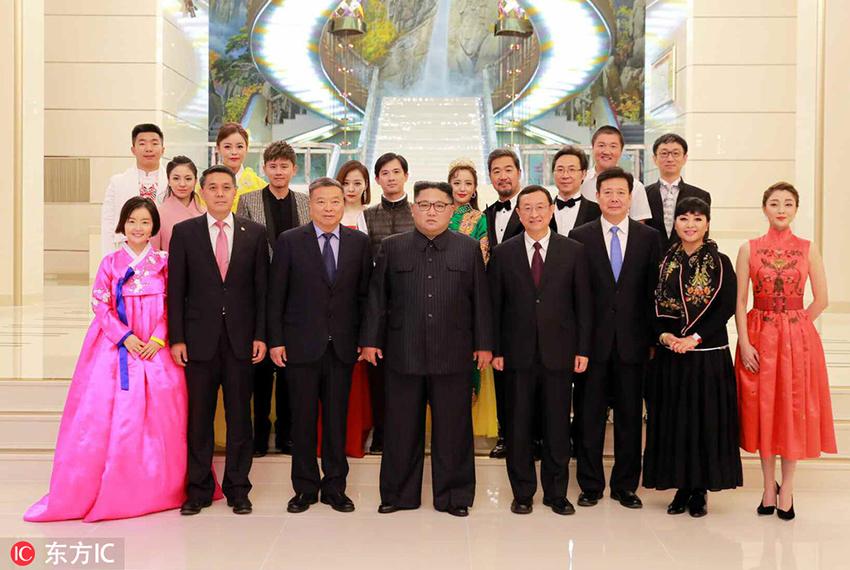 当地时间2018年11月3日,朝鲜劳动党委员长,国务委员会委员长金正恩与