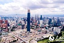 航拍中企承建海外最高建筑
