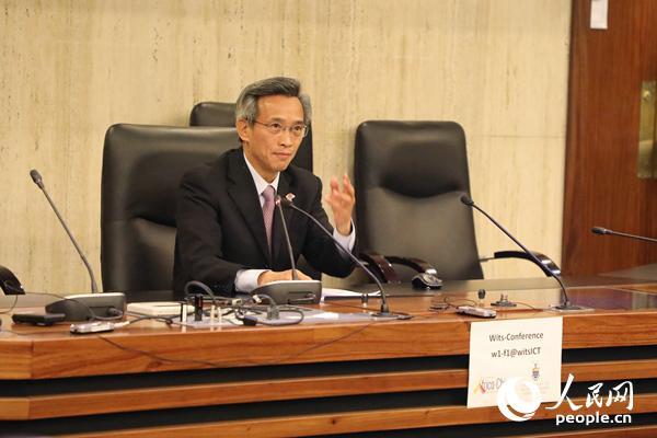 中国驻南非大使林松添在活动上发表题为《中南关系符合两国和两国人民的根本利益》的主旨演讲。 吕强摄