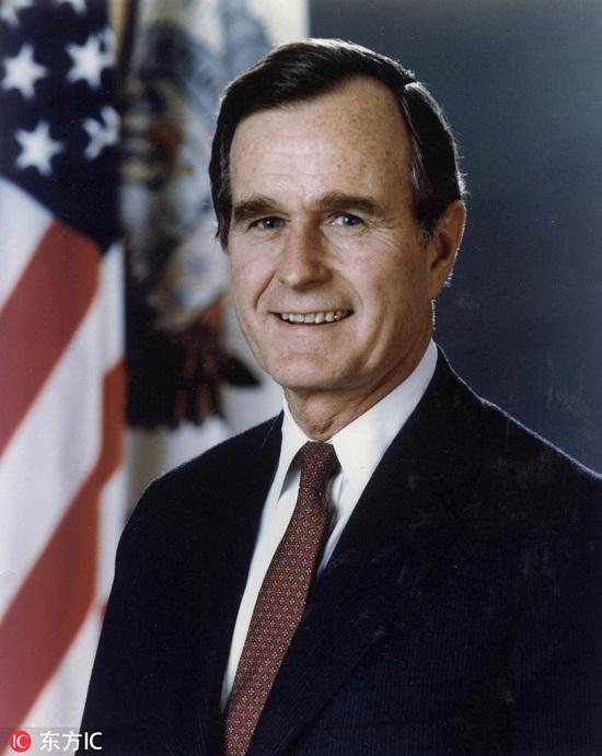 美国第51届第41任总统乔治·赫伯特·沃克·布什 (东方IC版权图片,请勿转载)