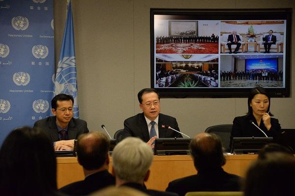 11月29日,说相符国安理会轮值主席、中国常驻说相符国代外马朝旭大使向说相符国会员国和中外媒体介绍了安理会11月做事。