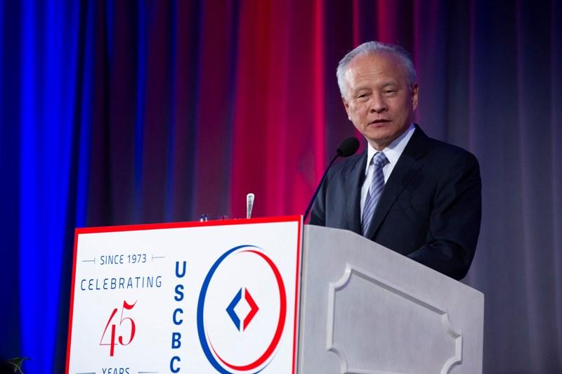 崔天凯:中美工商界需要的是开放的窗口不是铁幕