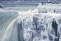 低温限定绝美冰瀑 就这么惊艳了寒冬