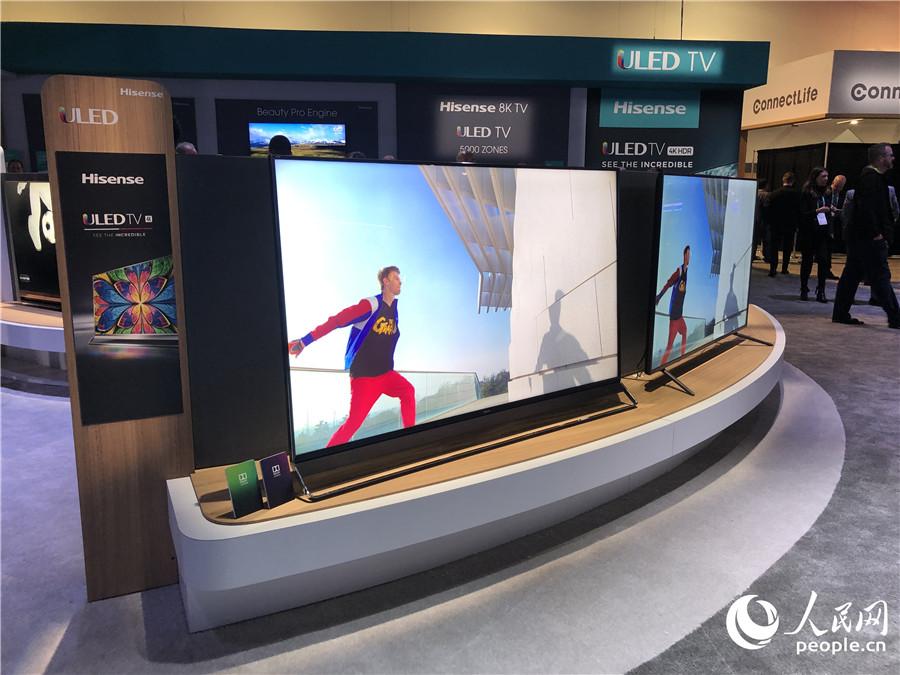 CES上海信推出75��8K新品电视。