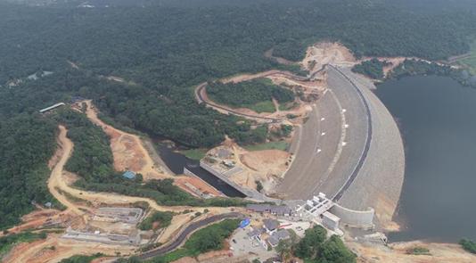 中企承建的卡卢河大坝