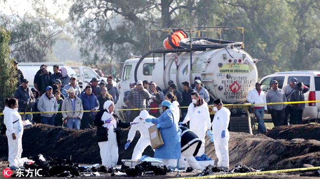 """""""偷油""""惹祸 墨西哥输油设施爆炸超百人死伤"""