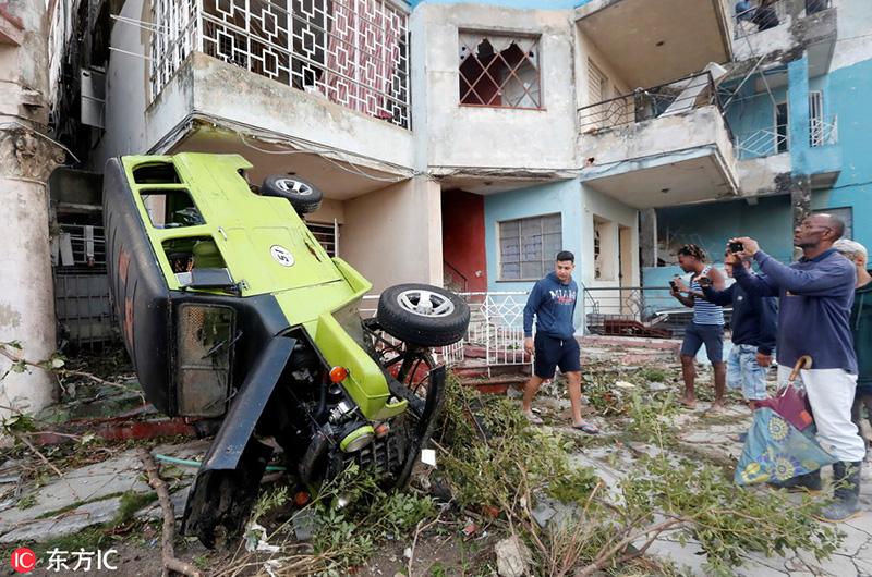 暴风雨侵袭古巴 致3人死亡172人受伤