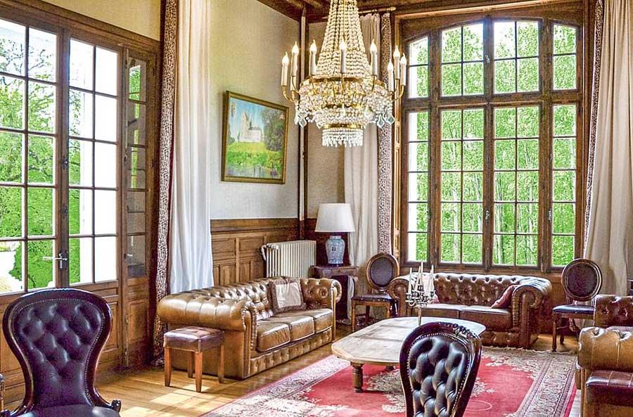 美丽的花园、浪漫的客房像主人一样在法国华丽城堡度假