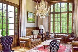 美丽的花园、浪漫的客房 在法国华丽城堡度假