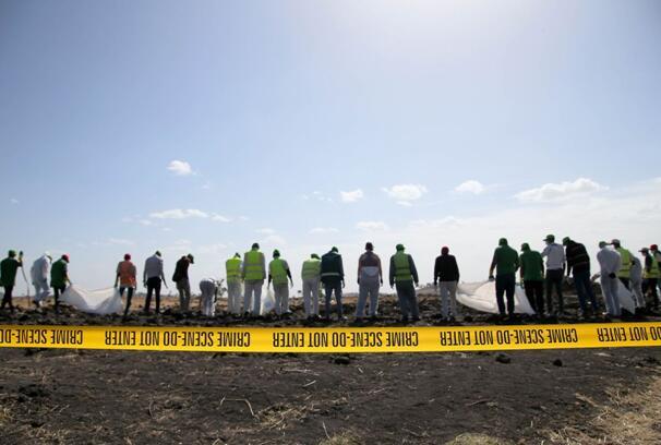 埃塞航空空难现场  图片来源:《华尔街日报》网站
