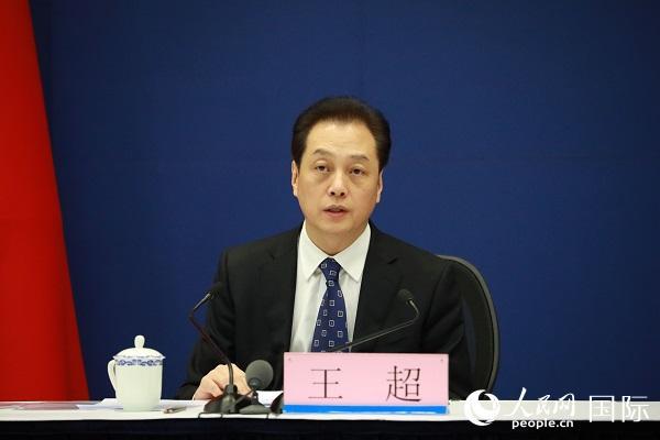 外交部副部长王超介绍有关情况 (人民网记者 贾文婷摄)