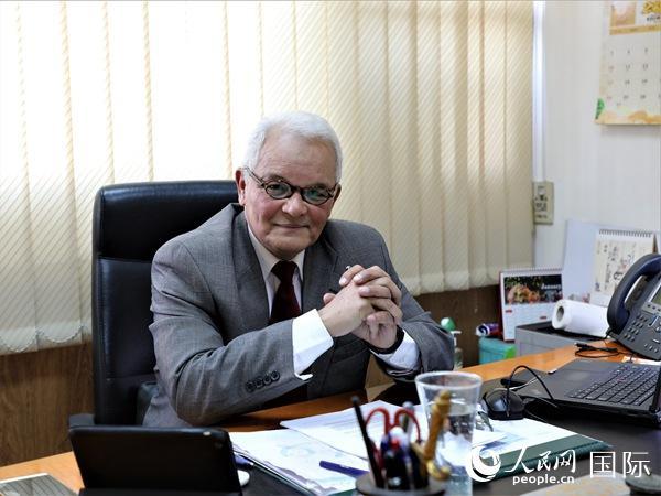 埃及前驻华大使阿莱姆 人民网记者景�h摄
