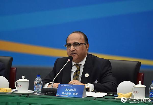 巴基斯坦战斗媒体团体总裁萨尔曼德·阿里。翁奇羽摄影