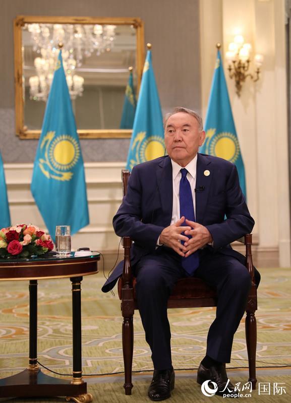 """哈萨克斯坦首任总统纳扎尔巴耶夫:哈中通过""""一带一路""""合作实现互利共赢"""