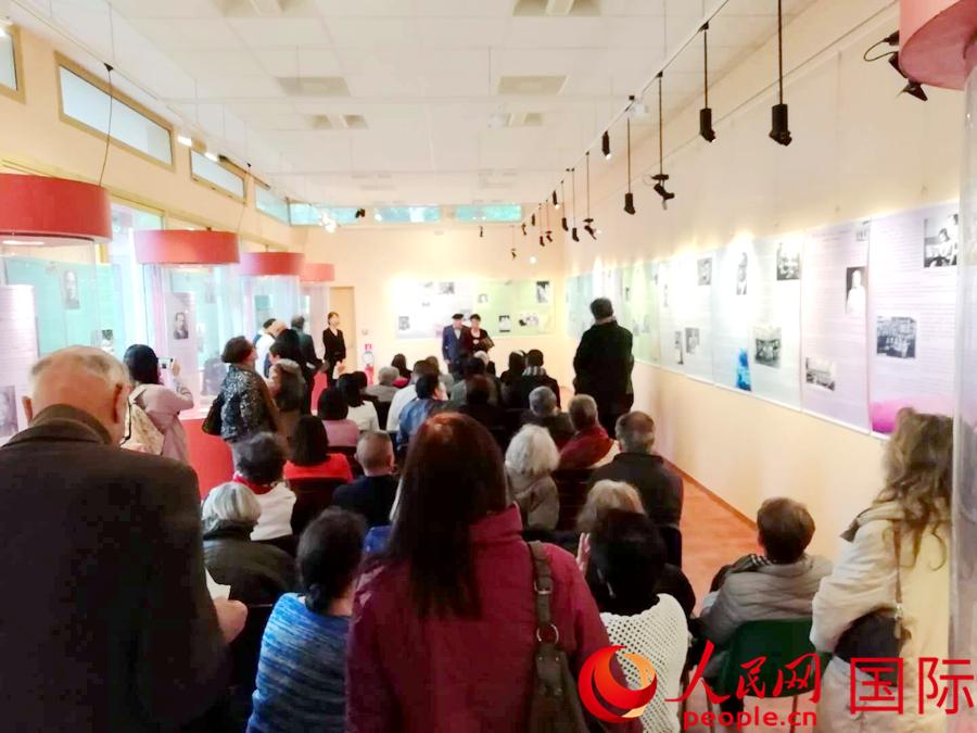 《纪念我们的父辈与里昂中法大学》展览在法国开幕(图片:朱新天)