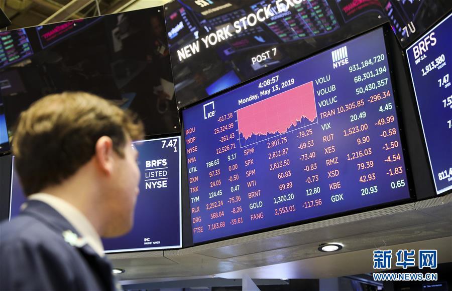 纽约股市三大股指13日大跌