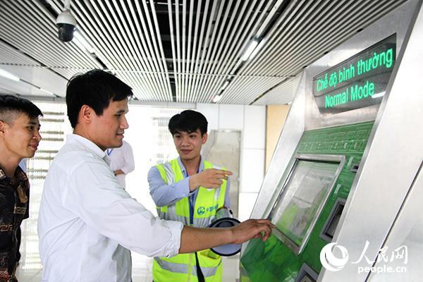 中企承建越南河内轻轨项目进行运营实战演练