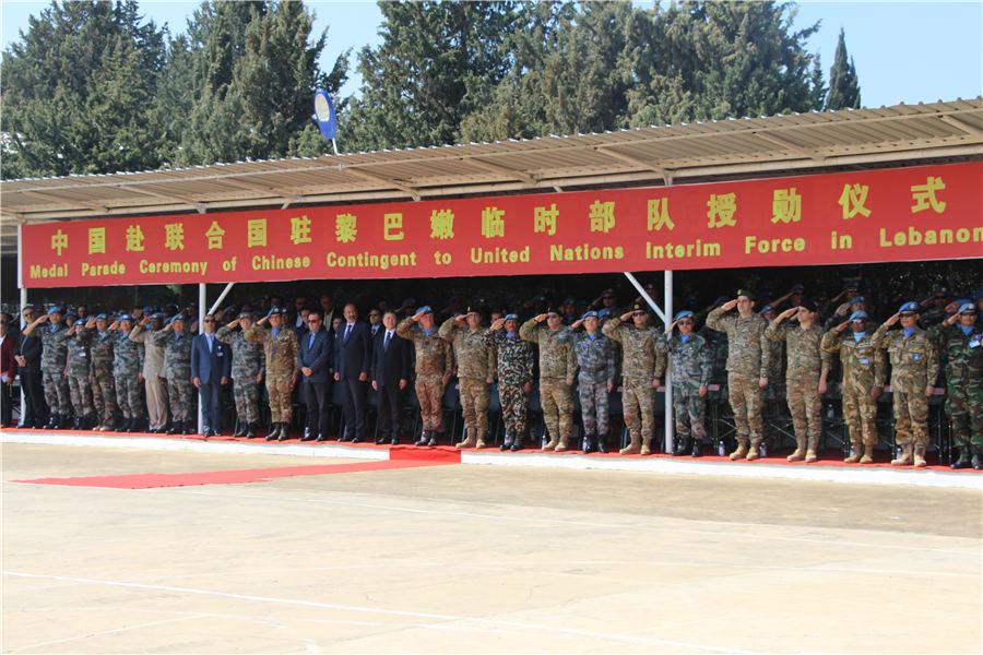 """""""联黎部队为拥有中国维和军人而感到骄傲!"""""""
