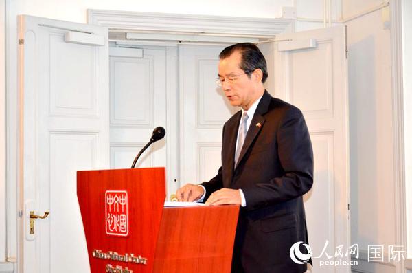 中国驻瑞典大使桂从友致辞。周鲲 摄