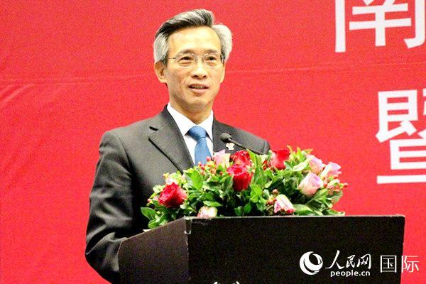 中国驻南非大使林松添出席会议并致辞。王磊 摄