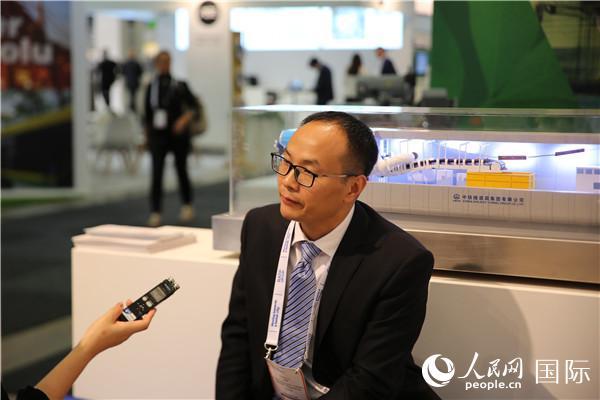 中铁隧道集团国际事业部总经理刘陈玉   王文 摄影