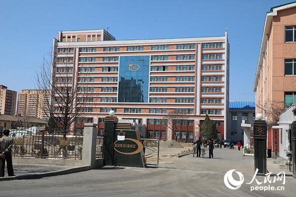 朝鲜东平壤第一中学。(记者 莽九晨摄)