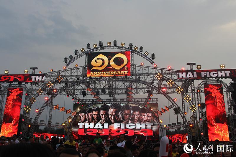 参加泰拳国际邀请赛的泰国拳手