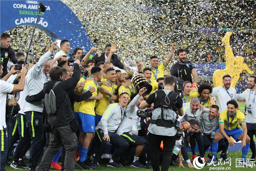 2019年美洲杯决赛 巴西时隔12年再夺冠