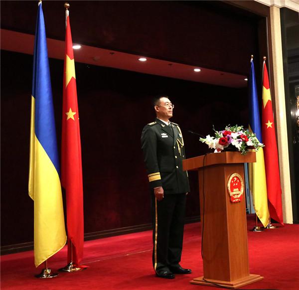 中国驻乌克兰大使馆举办建军节招待会