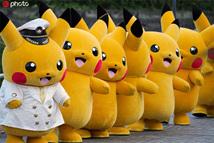日本横滨举行皮卡丘主题巡游