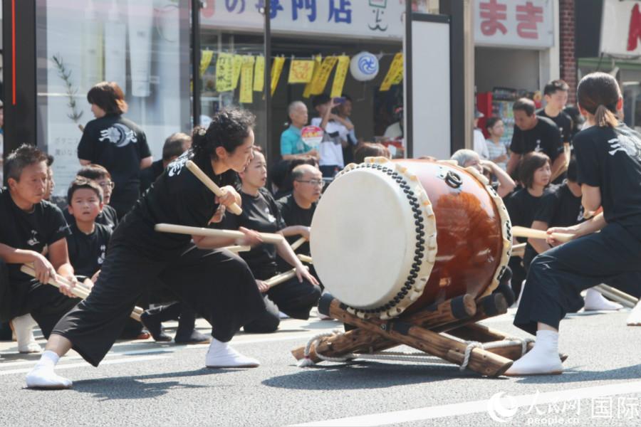 大鼓表演。林昶摄
