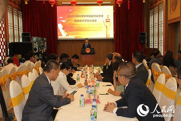 中國駐埃及大使廖力強致辭 黃培昭攝