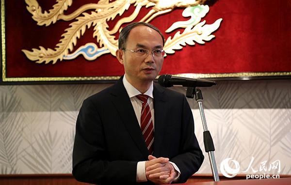 中国驻比利时大使曹忠明出席活动并致辞。记者 任彦 摄