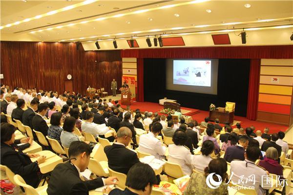 中国驻泰国大使馆与泰国陆军尉官学院共同举办的庆祝中华人民共和国成立70周年专题研讨会。记者孙广勇摄