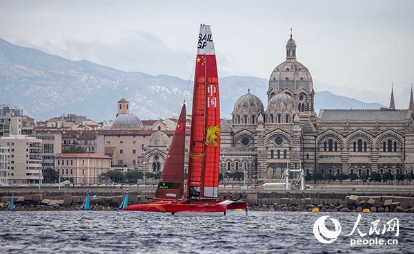 国际帆船大奖赛中国队帆船。