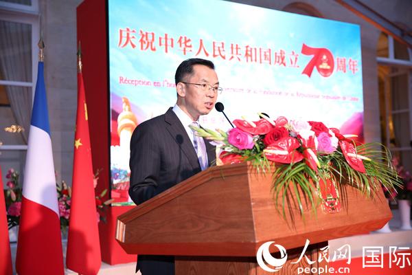 中国驻法国大使馆举行2019年国庆系列招待会