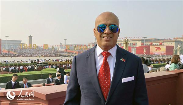 阿联酋驻华大使阿里·扎西里参加庆祝中华人民共和国成立70周年大会
