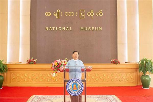 缅甸宗教事务与文化部部长杜拉·吴昂哥祝贺新中国成立70周年