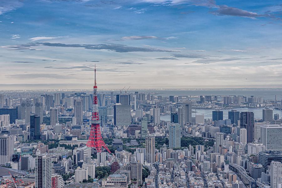 中国游客镜头下的东京塔