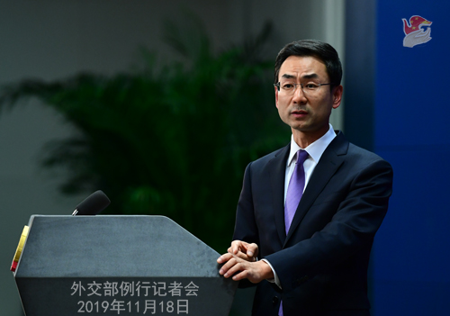 外交部回应航母通过台湾海峡:家门口例行训练