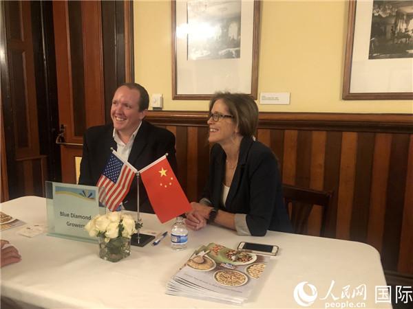 中美企业在加州首府举行农产品对接会