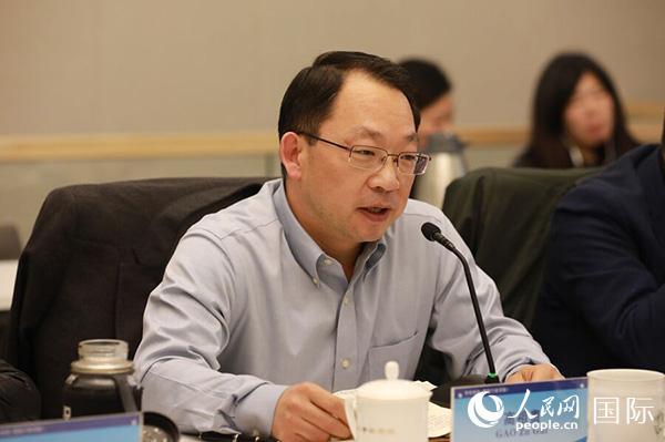 中央党校国际战略研究院副院长、教授 高祖贵 (贾文婷 摄)