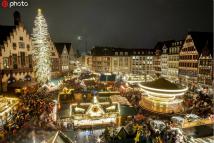 美轮美奂!德国法兰克福圣诞集市开业