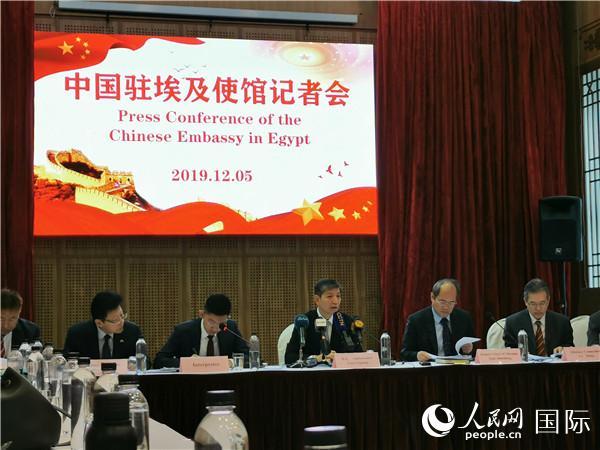 中国驻埃及使馆就香港和新疆问题召开记者会