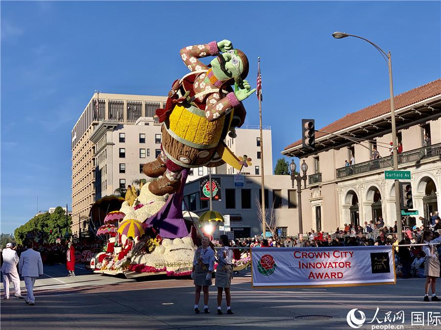 美国加州举办盛大花车游行喜迎2020【3】